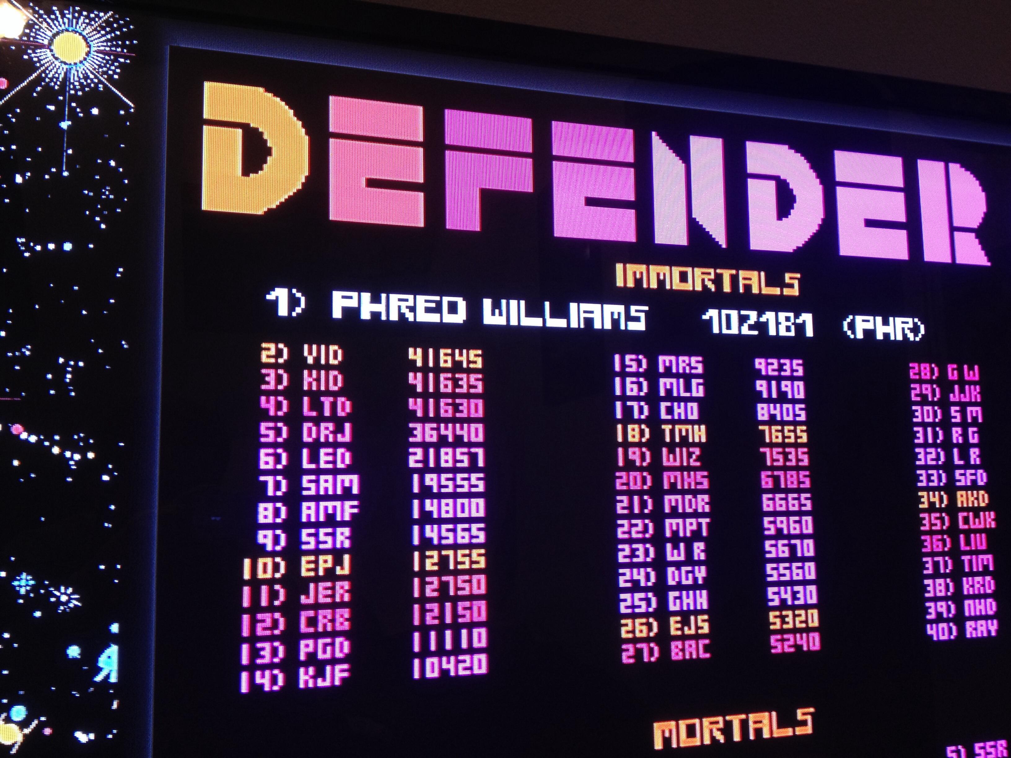 FosterAMF: Midway Arcade Origins: Defender II (Playstation 3) 14,800 points on 2014-04-08 22:23:25
