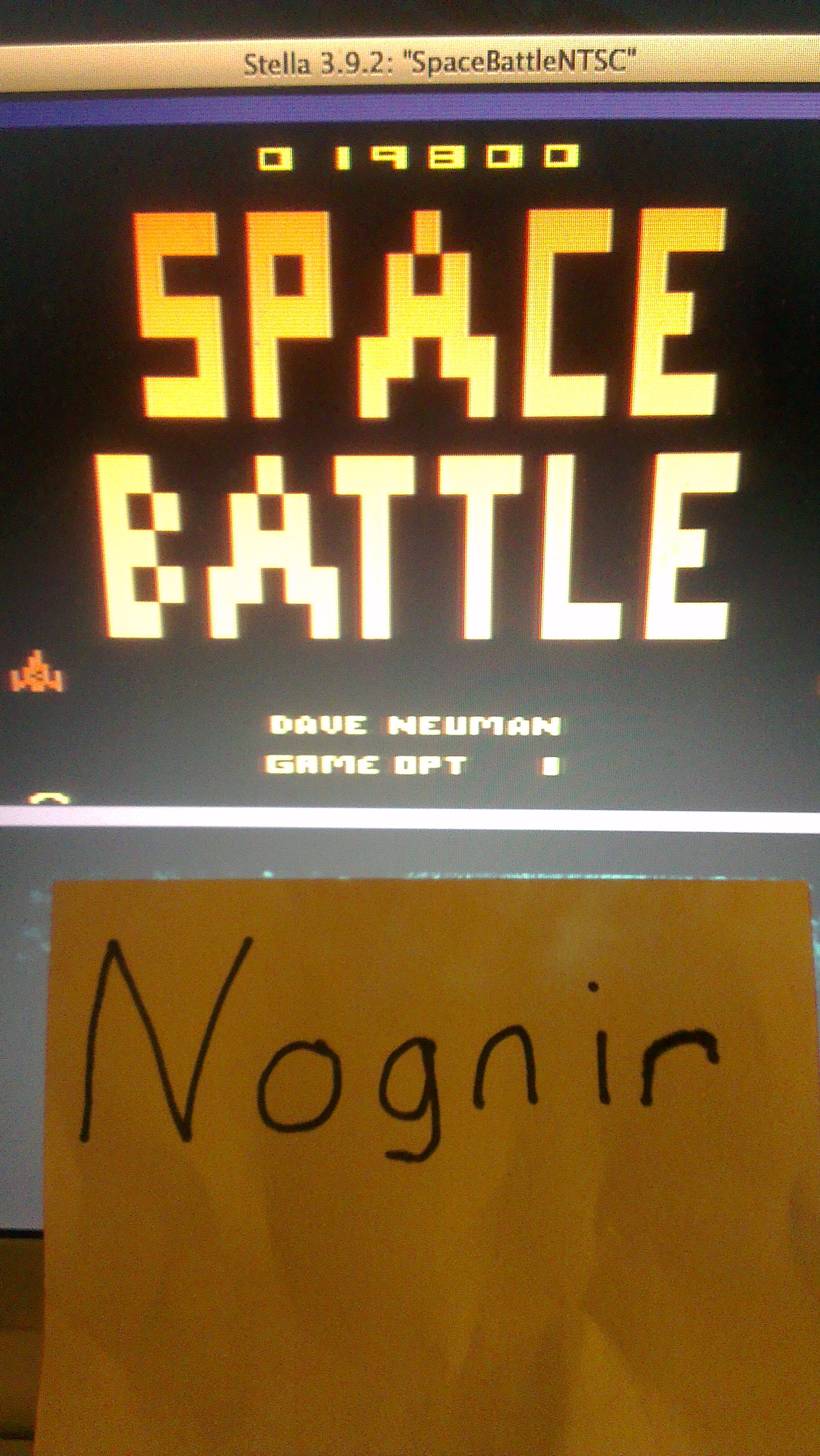 Nognir: Space Battle (Atari 2600 Emulated) 19,800 points on 2014-04-11 19:09:18