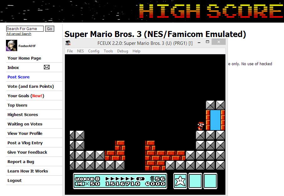Super Mario Bros. 3 1,516,710 points