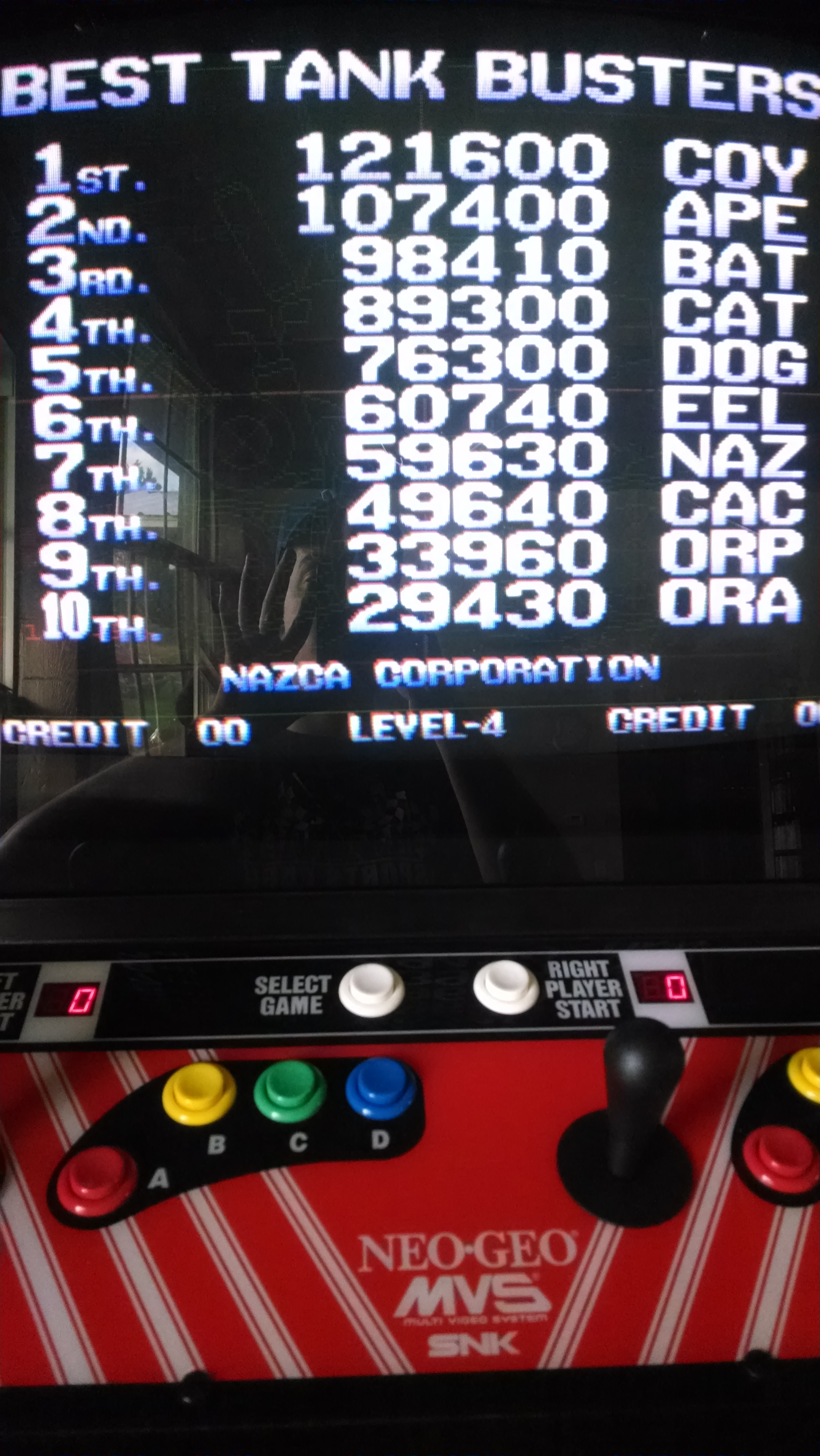 Metal Slug 121,600 points