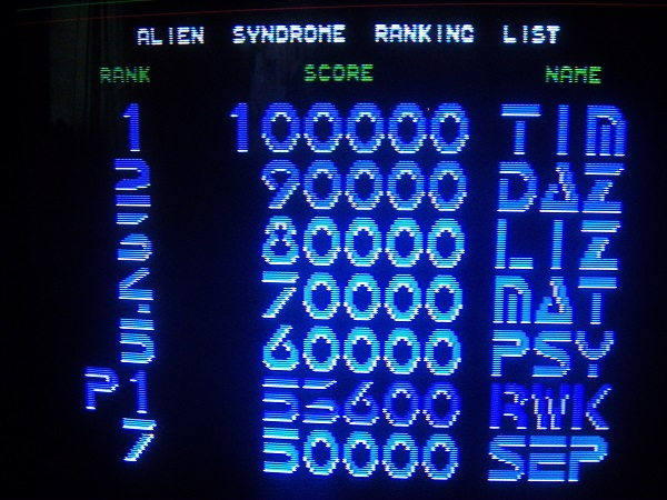 Alien Syndrome 53,600 points