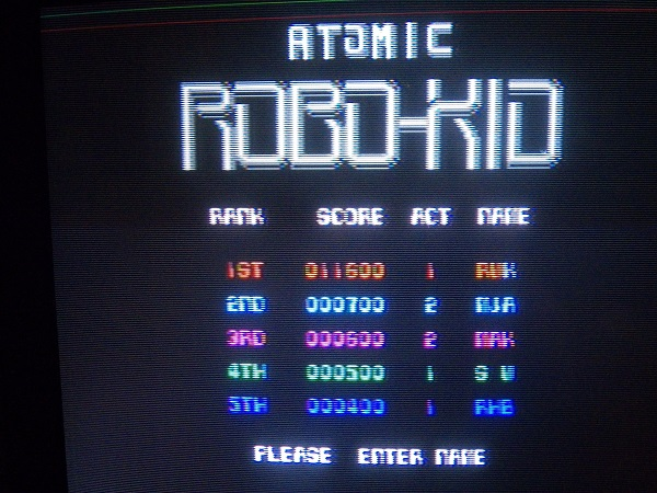 Atomic Robo Kid 11,600 points