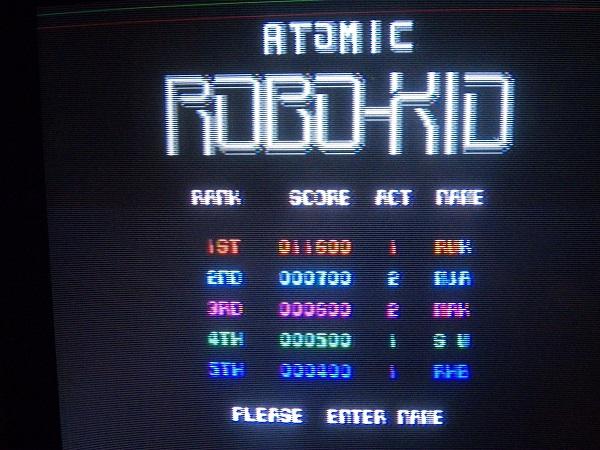 Atomic Robo Kid 11,600 points