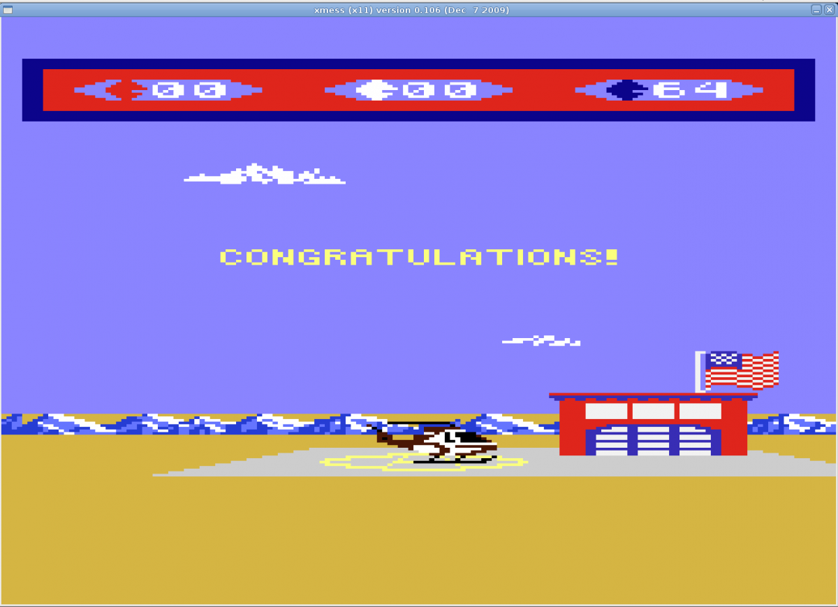 Liduario: Choplifter! (Atari 7800 Emulated) 64 points on 2014-04-14 08:15:18