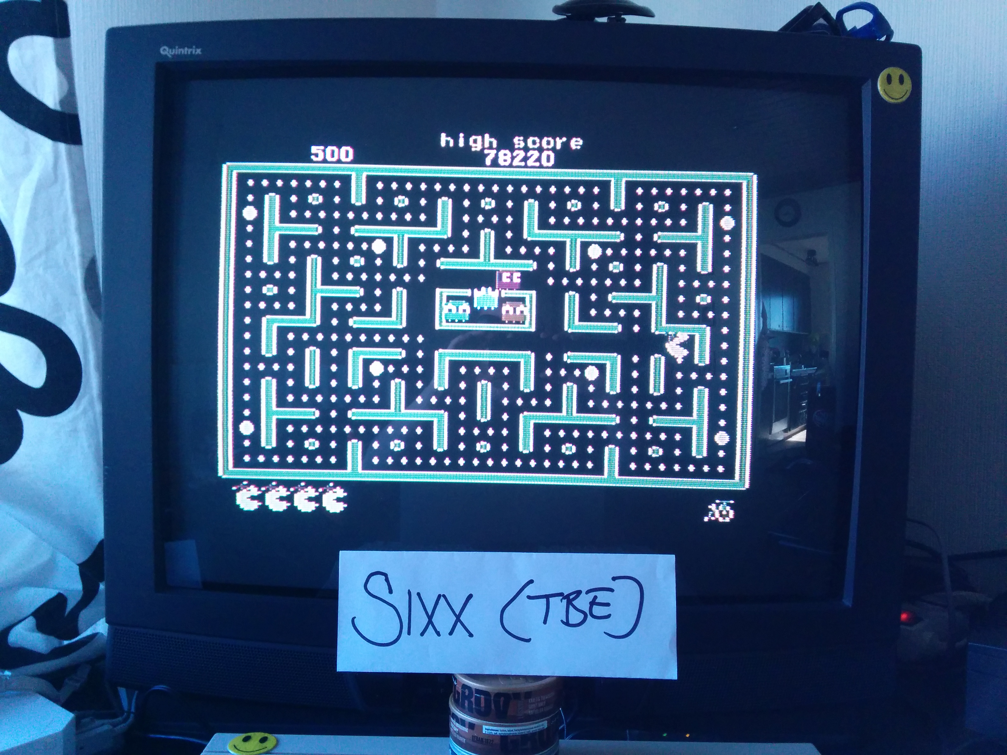 Sixx: Jr. Pac-Man (Commodore 64) 78,220 points on 2014-04-14 08:42:13