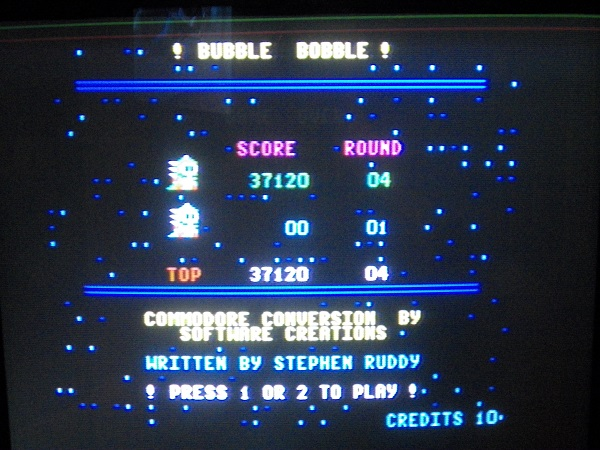 Bubble Bobble 37,120 points