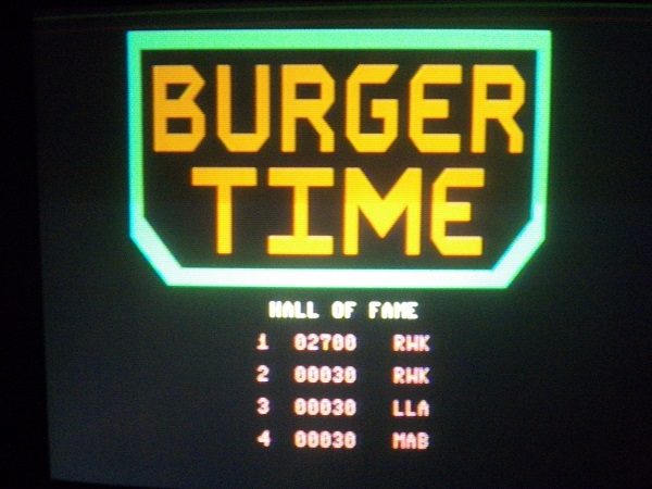 Burger Time 2,700 points
