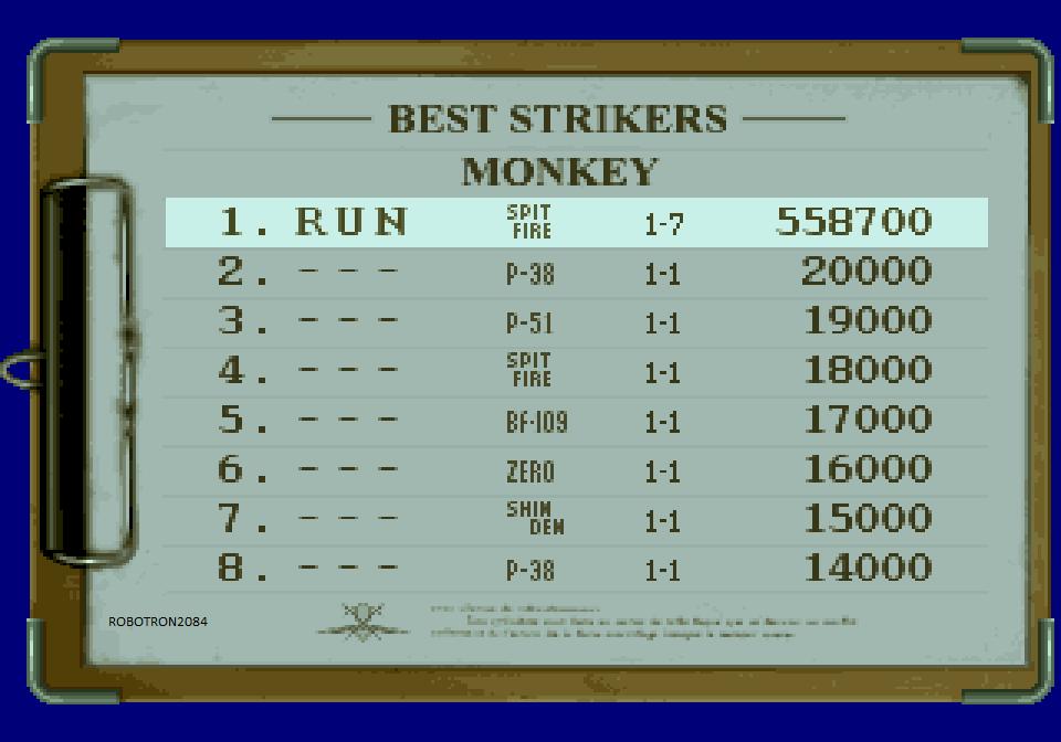Robotron2084: Strikers 1945 [Skill 1/Monkey/Original 1] (Sega Saturn Emulated) 558,700 points on 2014-04-17 18:47:35