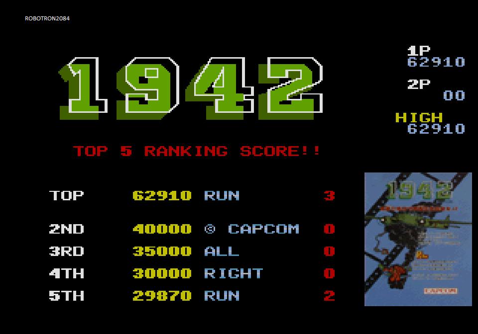 Capcom Generations 1: 1942 62,910 points
