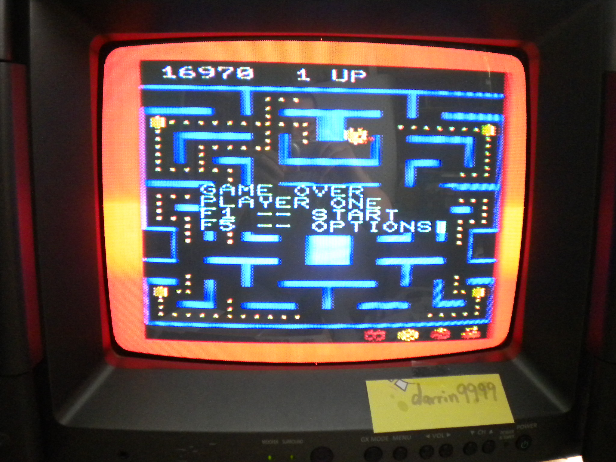 Ms. Pac-Man 16,970 points