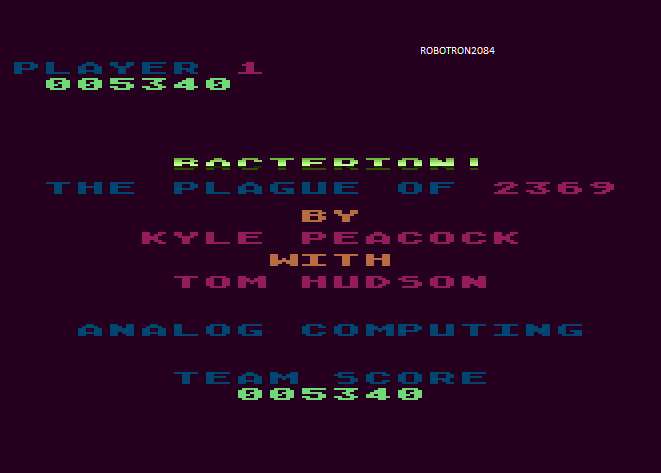 Robotron2084: Bacterion (Atari 5200 Emulated) 5,340 points on 2014-04-19 10:53:37
