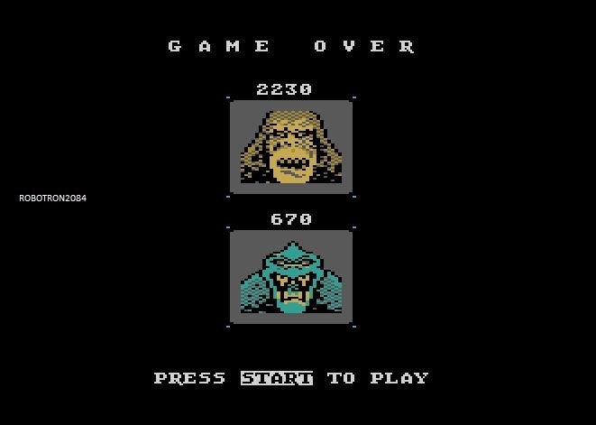 Robotron2084: Rampage (Atari 5200 Emulated) 2,230 points on 2014-04-19 10:58:38