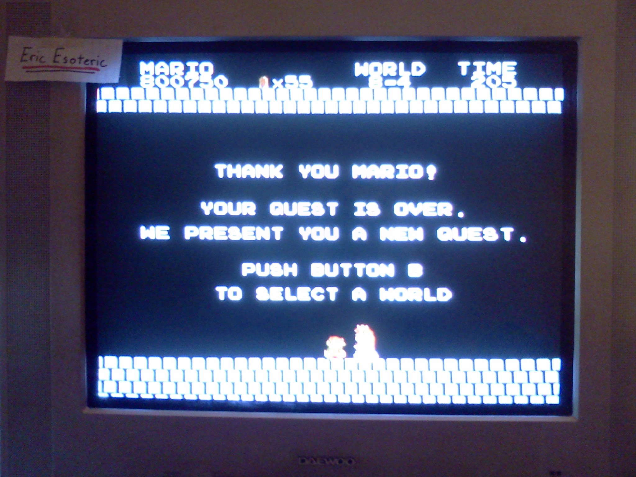 EricEsoteric: Super Mario Bros. (NES/Famicom) 800,750 points on 2013-08-29 17:25:10