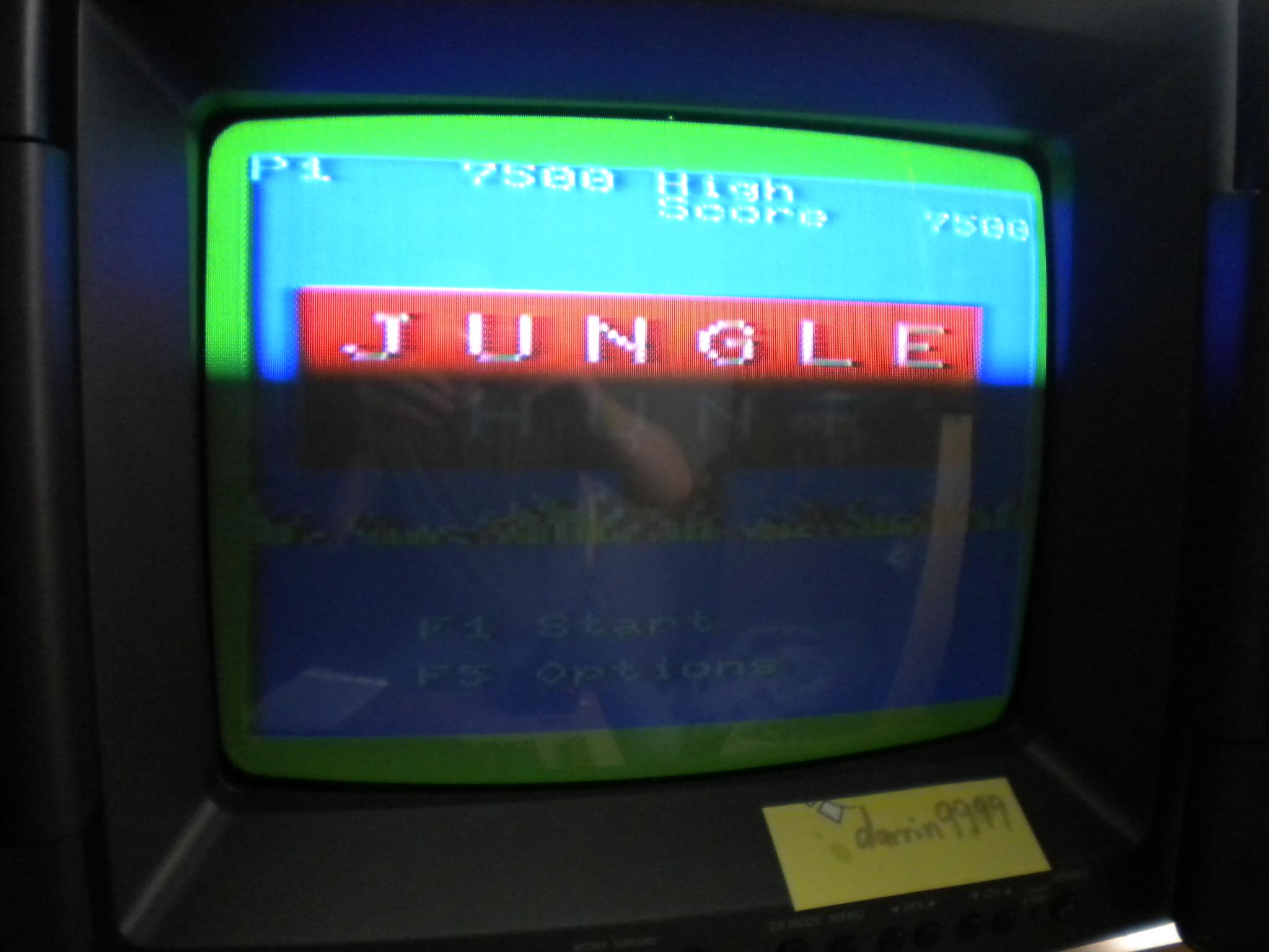 Jungle Hunt 7,500 points