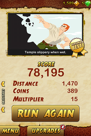 Temple Run 2 78,195 points