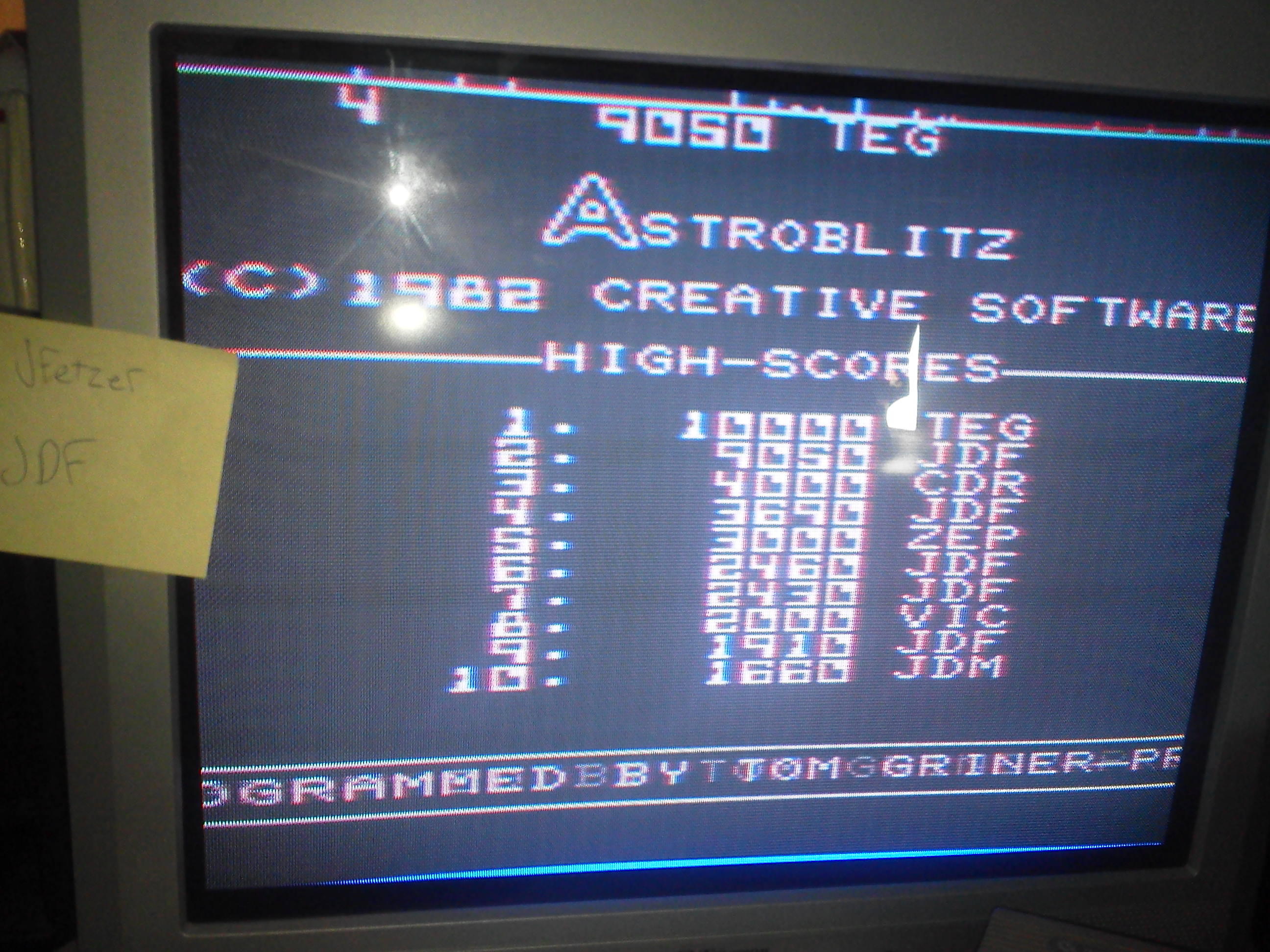 jfetzer: Astroblitz (Commodore VIC-20) 9,050 points on 2014-04-20 11:33:07