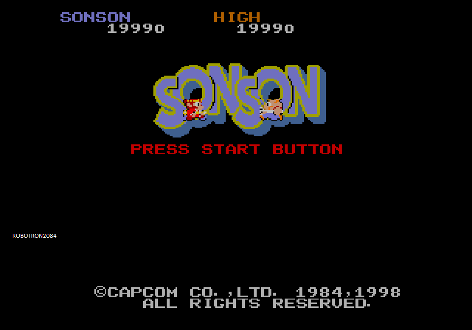 Robotron2084: Capcom Generations 3: Sonson (Sega Saturn Emulated) 19,990 points on 2014-04-20 11:55:38