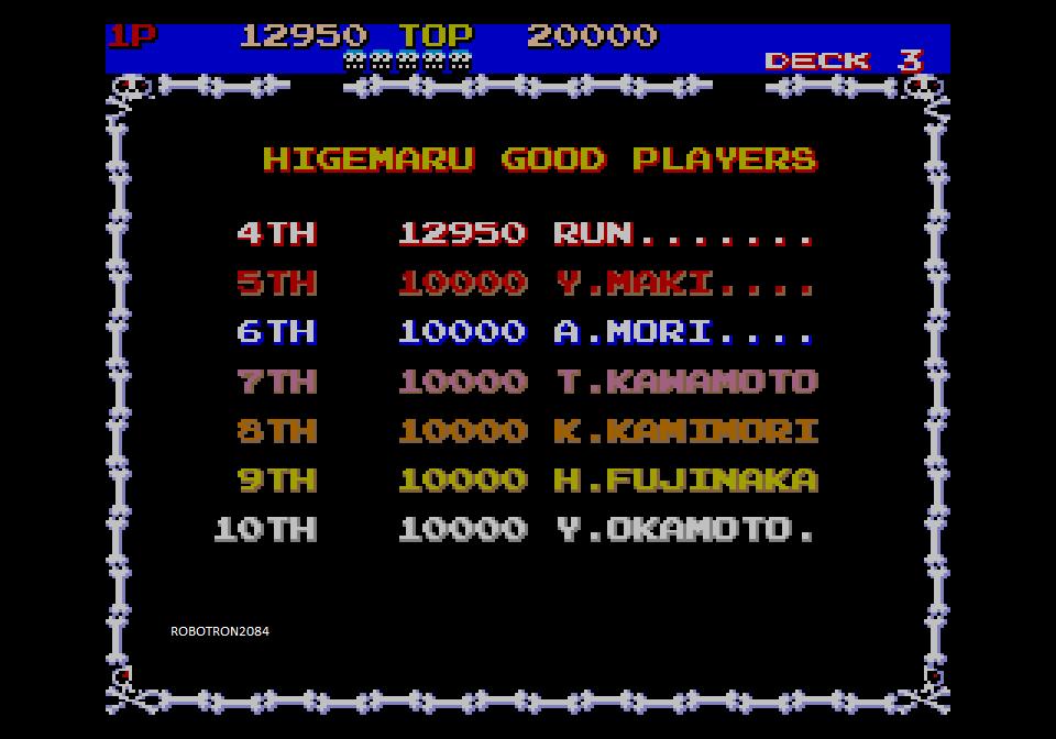 Robotron2084: Capcom Generations 3: Pirate Ship Higemaru (Sega Saturn Emulated) 12,950 points on 2014-04-20 12:00:00