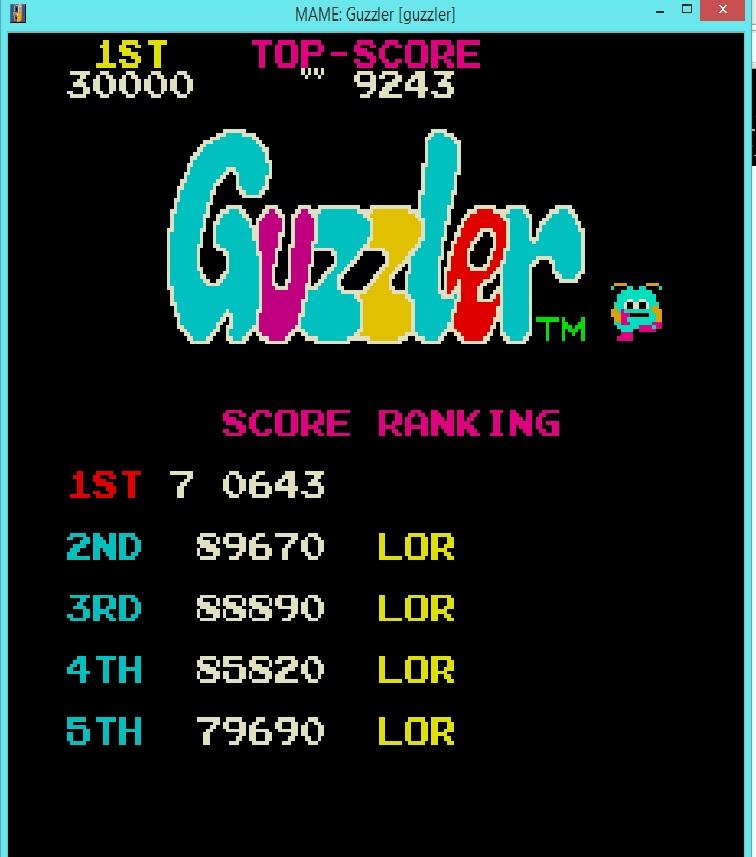Guzzler 89,670 points