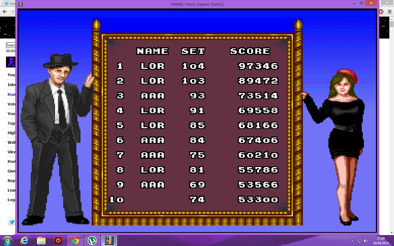 lenny2571: Hatris (Arcade Emulated / M.A.M.E.) 97,346 points on 2014-04-20 14:10:53