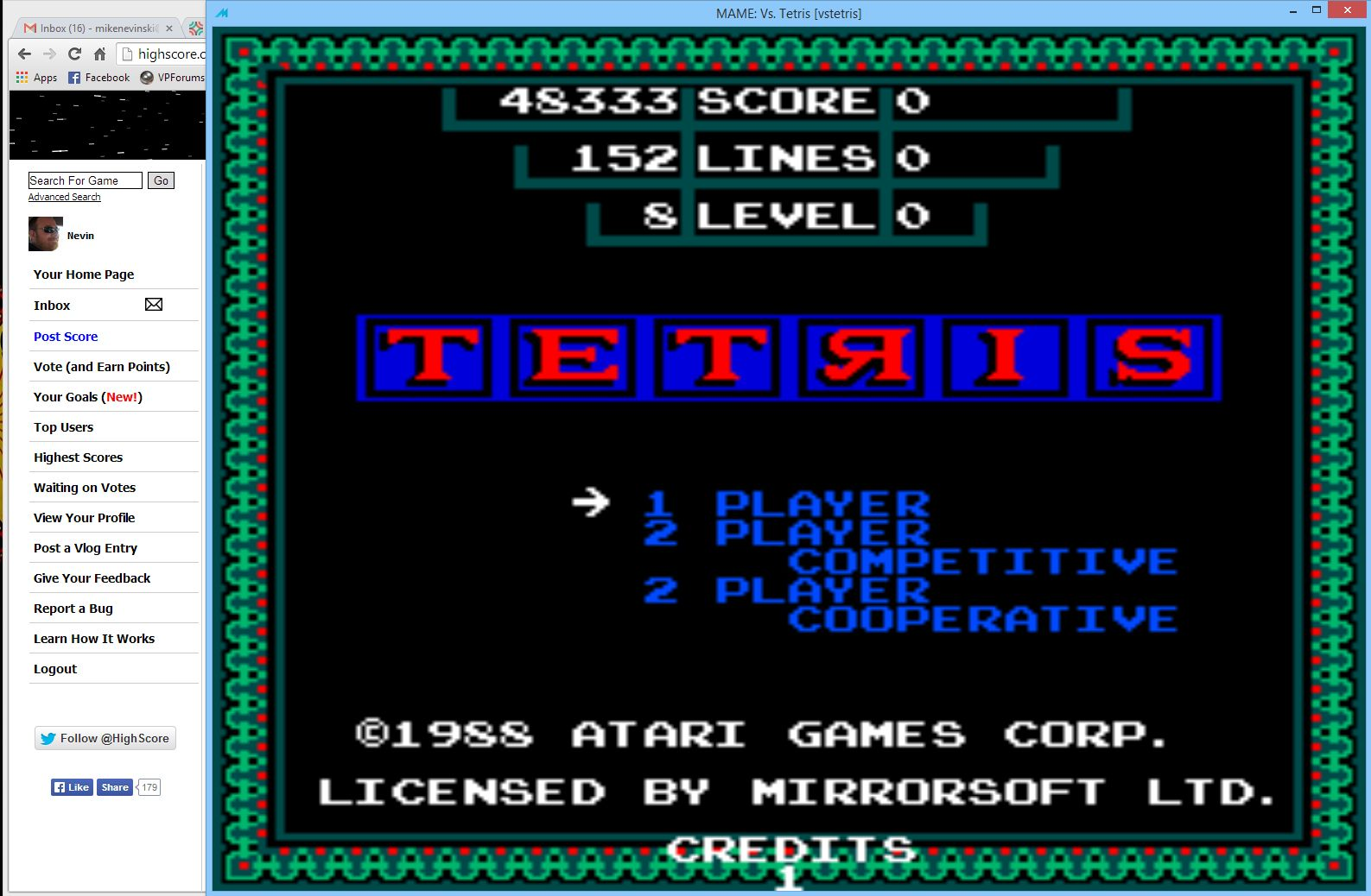 Nevin: Vs. Tetris (Arcade Emulated / M.A.M.E.) 48,333 points on 2014-04-20 15:41:12