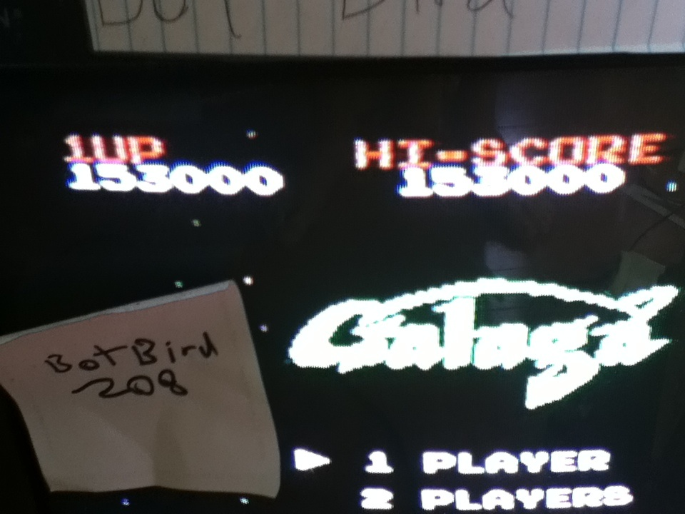 Botbird208: Galaga (NES/Famicom) 153,000 points on 2014-04-20 15:52:51