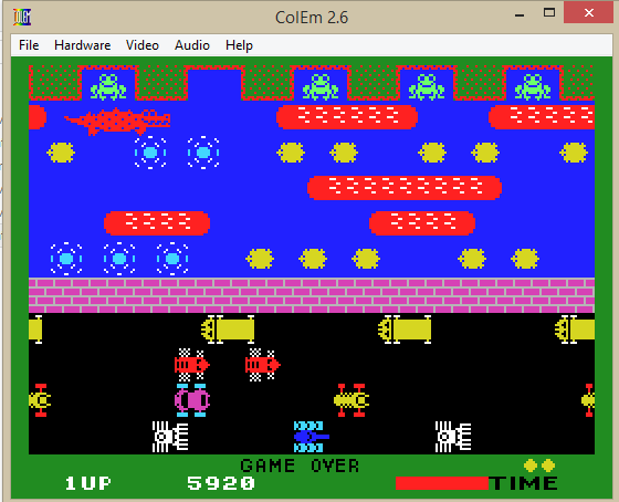 jfsiaba: Frogger (Colecovision Emulated) 5,920 points on 2014-04-21 22:23:14