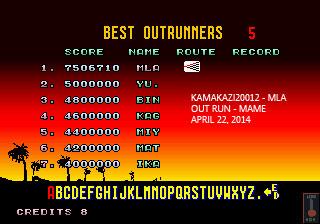 Outrun 7,506,710 points