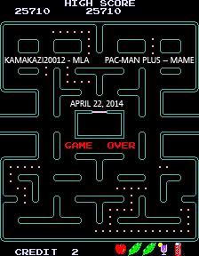 Pac-Man Plus 25,710 points