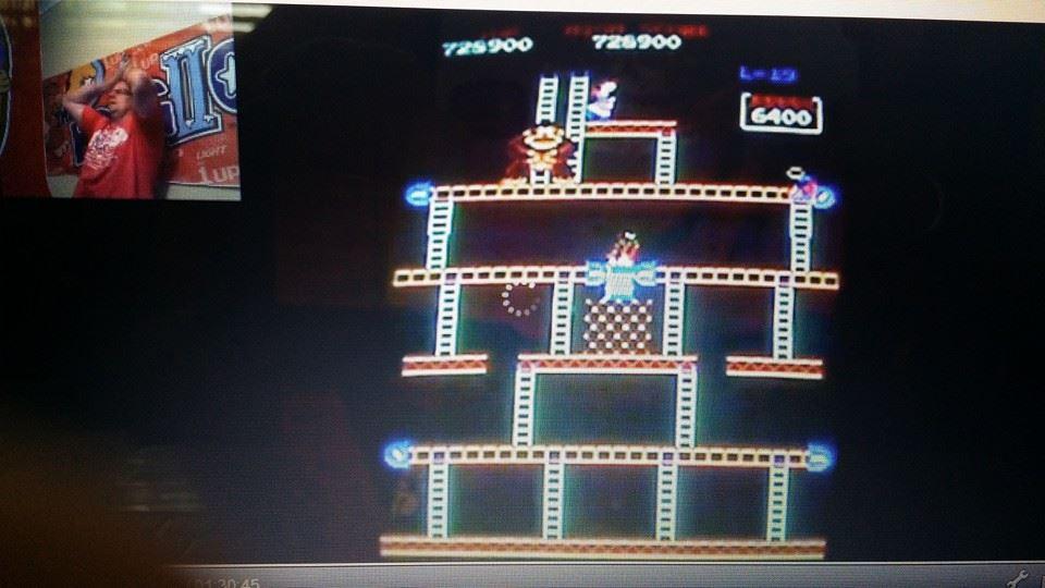 Donkey Kong 728,900 points