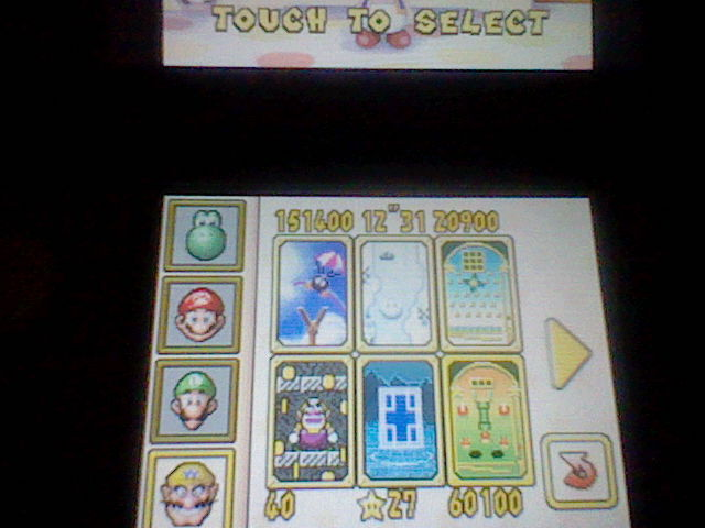 Super Mario 64 DS: Slots Shot 60,100 points