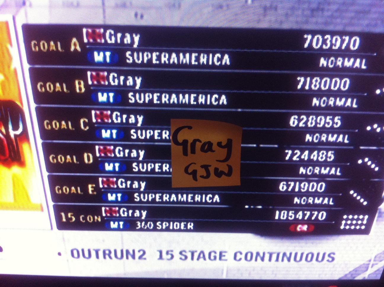 Gray: Outrun 2006 Coast 2 Coast: OUTRUN 2SP: Goal C (Xbox) 628,955 points on 2014-04-24 05:46:51