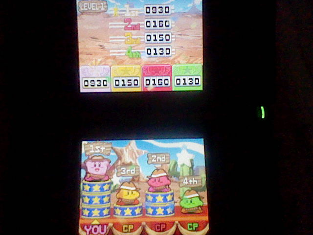 DarkEonMaster: Kirby Super Star Ultra: Kirby on the Draw: Level 1 (Nintendo DS) 930 points on 2014-04-24 13:32:15