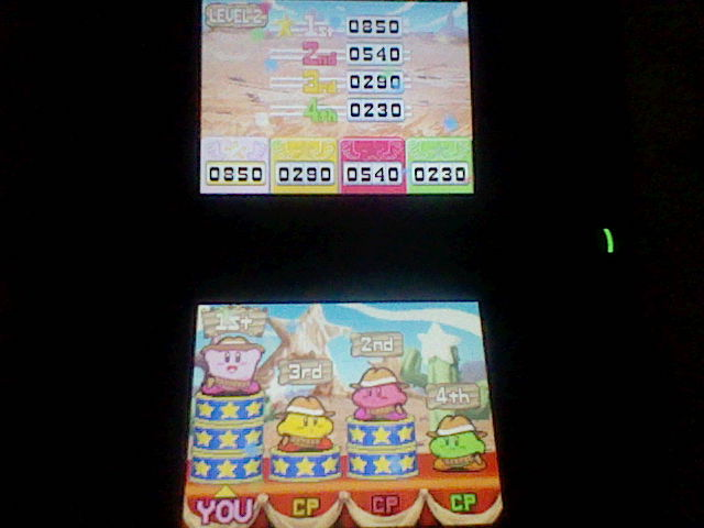 Kirby Super Star Ultra: Kirby on the Draw: Level 2 850 points