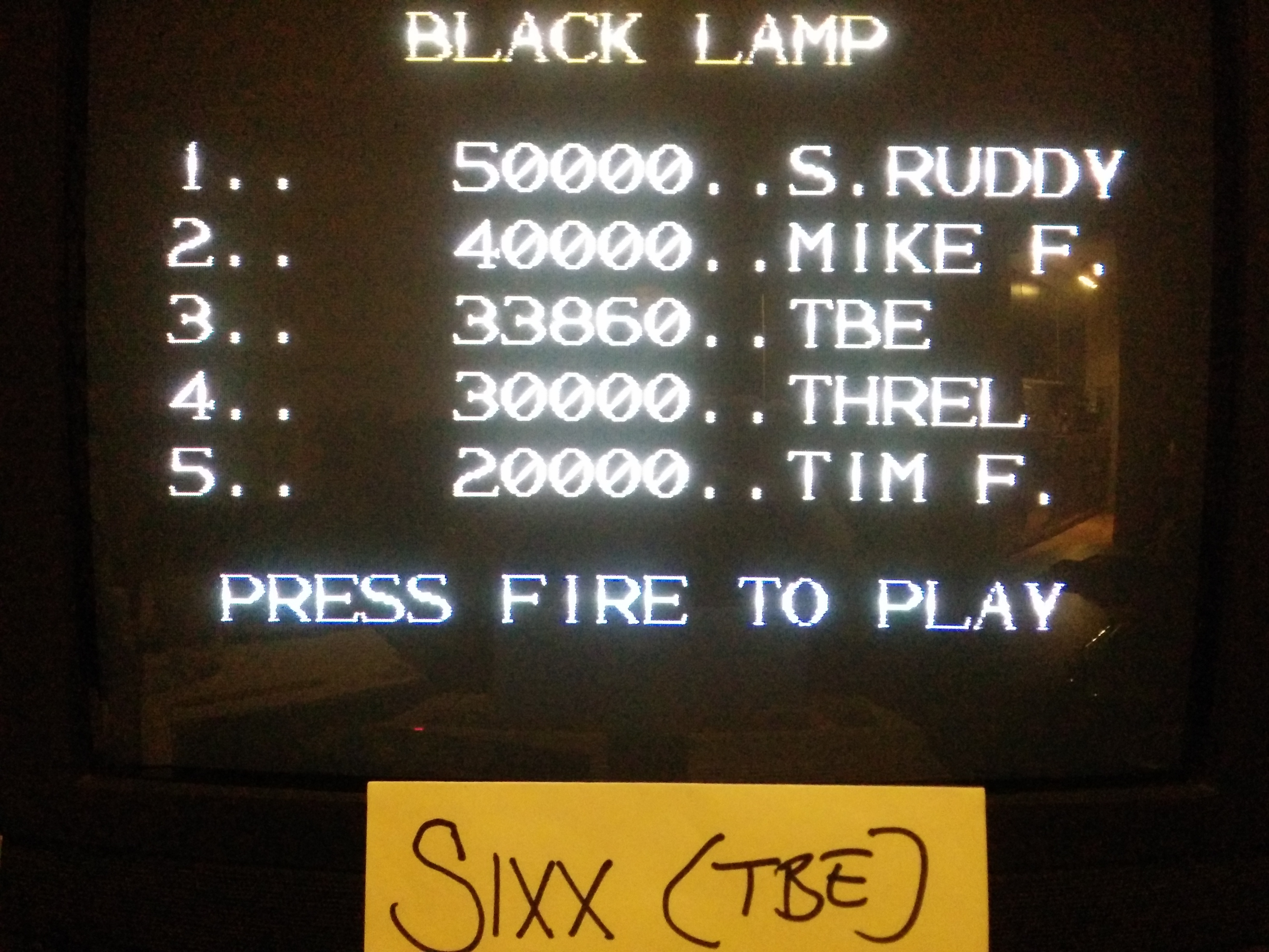 Sixx: Black Lamp (Commodore 64) 33,860 points on 2014-04-24 15:08:48