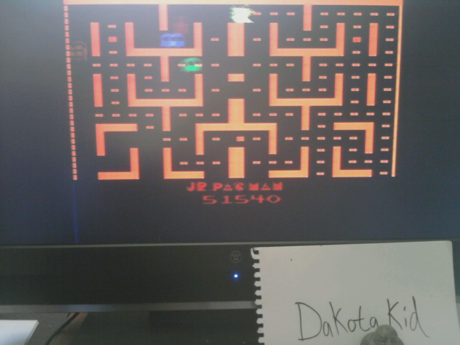 DakotaKid: Jr. Pac-Man (Atari 2600) 51,540 points on 2014-04-24 17:58:16