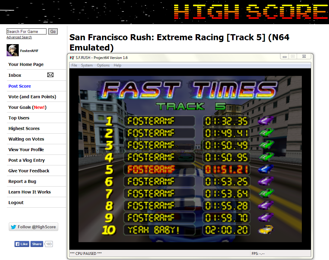 FosterAMF: San Francisco Rush: Extreme Racing [Track 5] (N64 Emulated) 0:01:32.35 points on 2014-04-25 16:26:16
