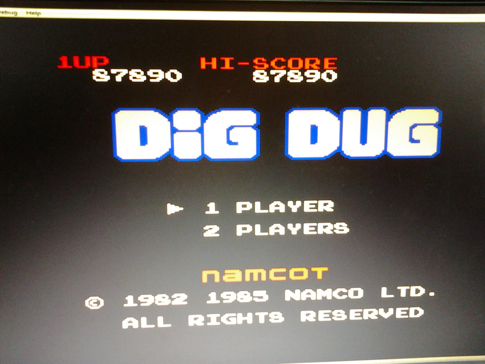 Dig Dug 87,890 points