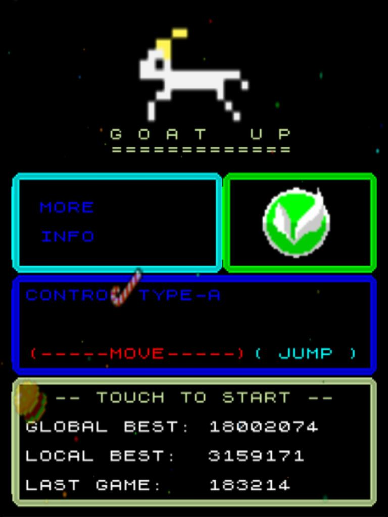 killersquirel: Goat Up (iOS) 3,159,171 points on 2013-09-25 21:55:28