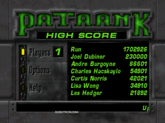 Robotron2084: PaTaank (3DO Emulated) 1,702,926 points on 2014-04-28 16:53:52