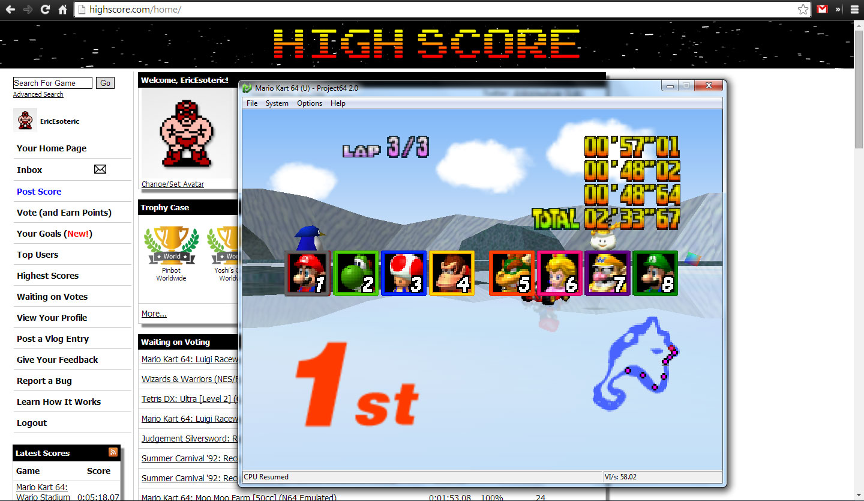 mario kart 64 online emulator