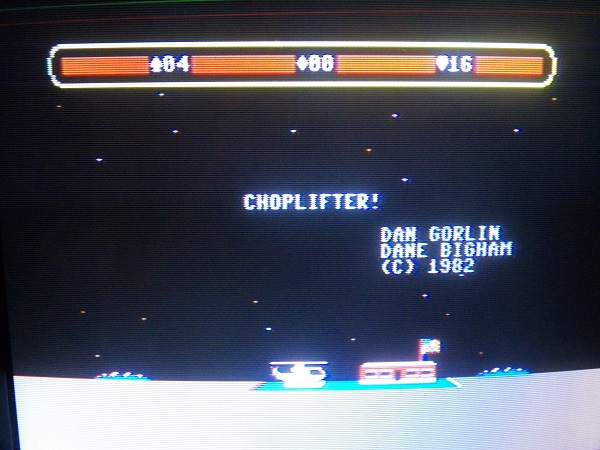 Choplifter 16 points