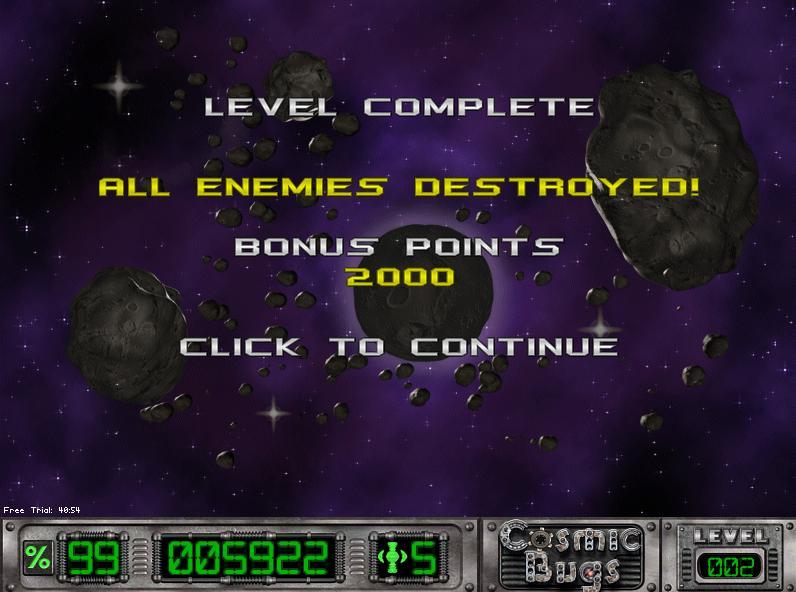 Cosmic Bugs: Level 002 [Percentage] 99 points