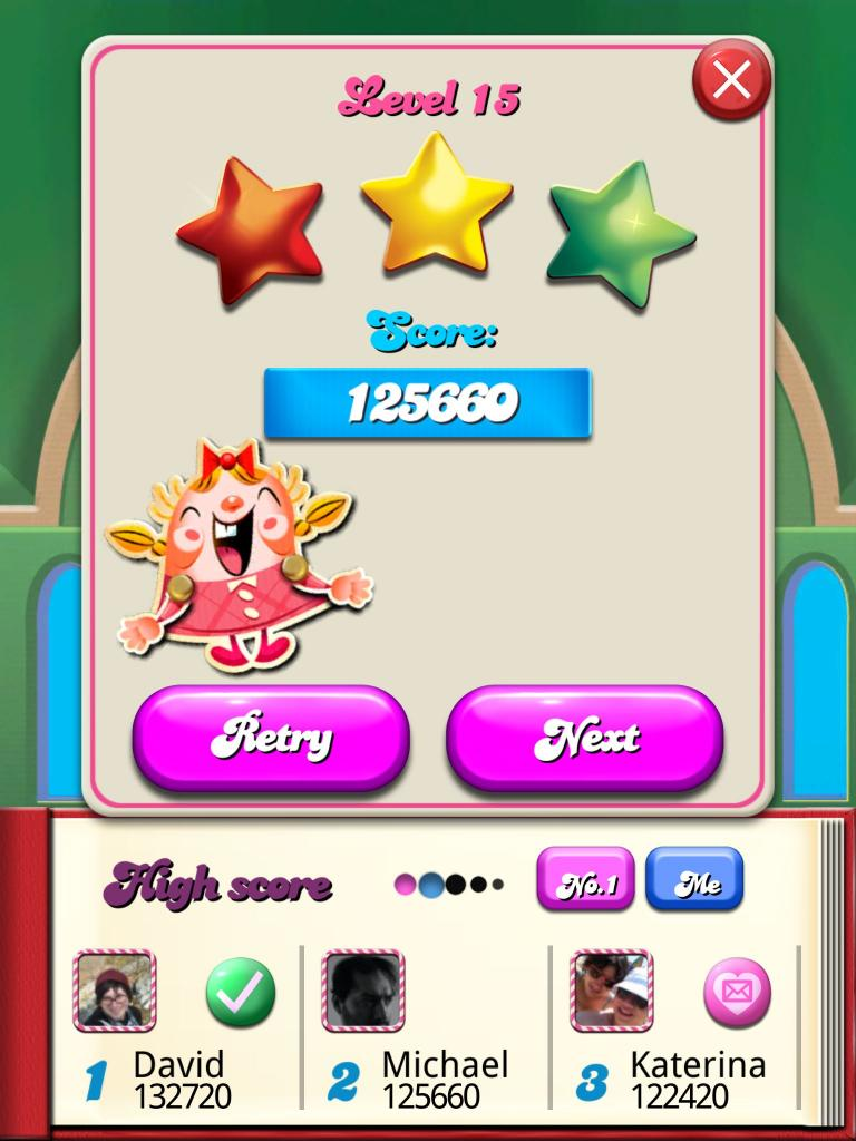 Candy Crush Saga: Level 015 125,660 points
