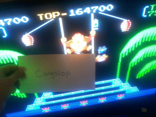 Congslop: Donkey Kong 3: Game A (NES/Famicom Emulated) 164,700 points on 2014-04-30 05:58:47