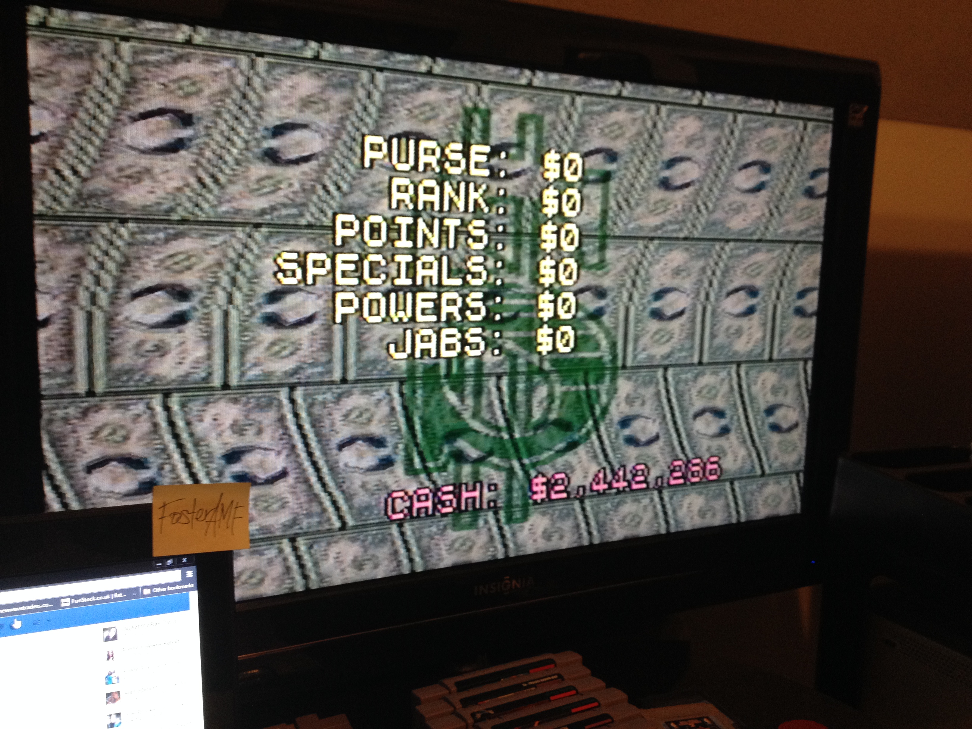 FosterAMF: Foreman For Real [Career Earnings] (SNES/Super Famicom) 2,442,286 points on 2014-05-01 01:10:59