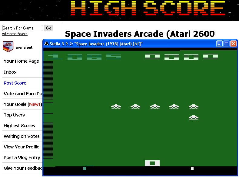 Space Invaders Arcade 1,085 points
