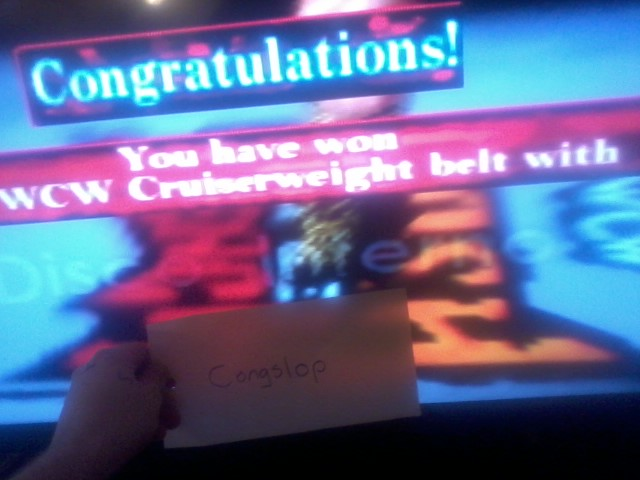 Congslop: WCW NWO Revenge: World Cruiserweight [Medium] (N64) 68,645 points on 2014-05-01 05:31:13
