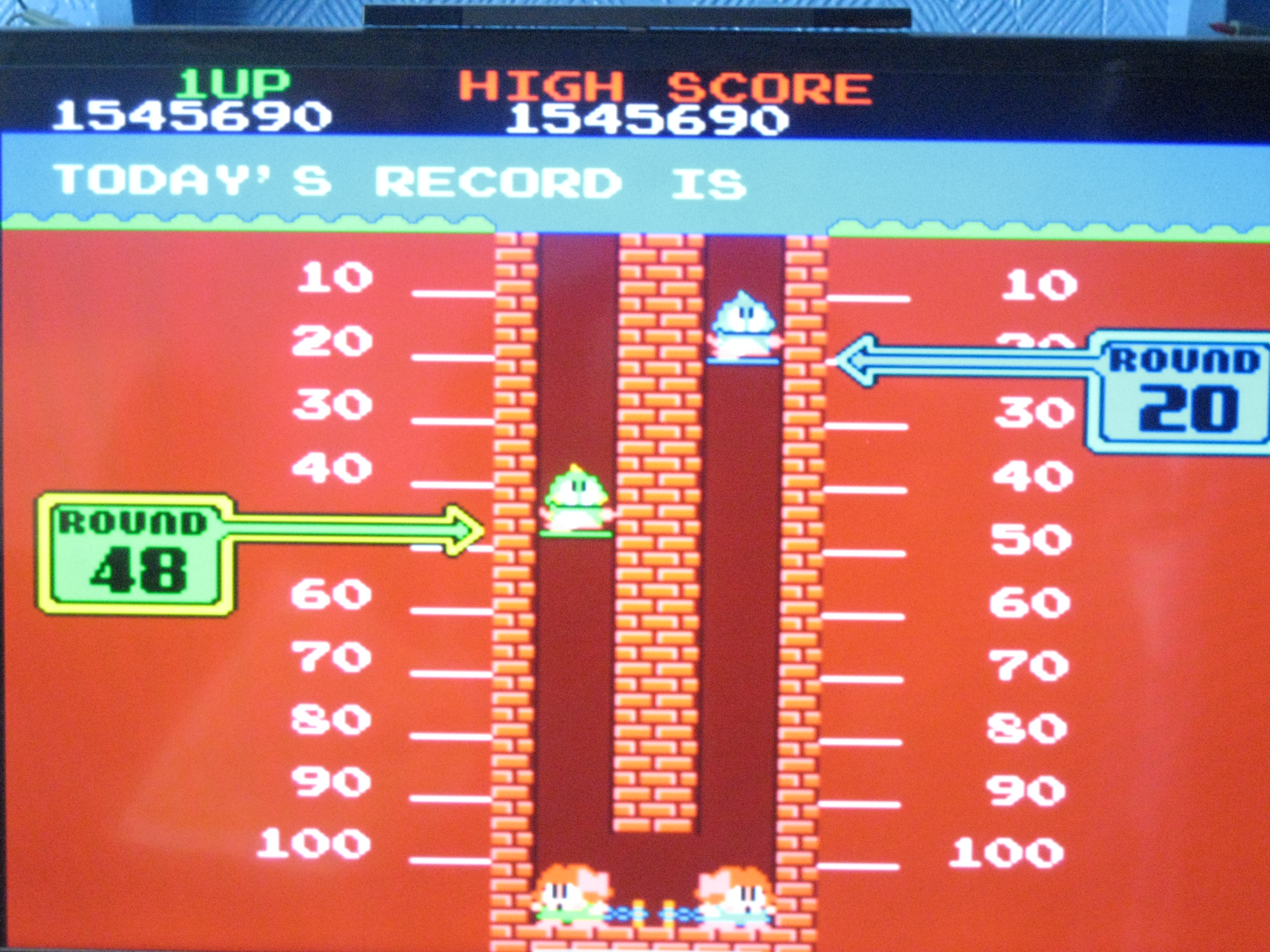 Bubble Bobble 1,545,690 points
