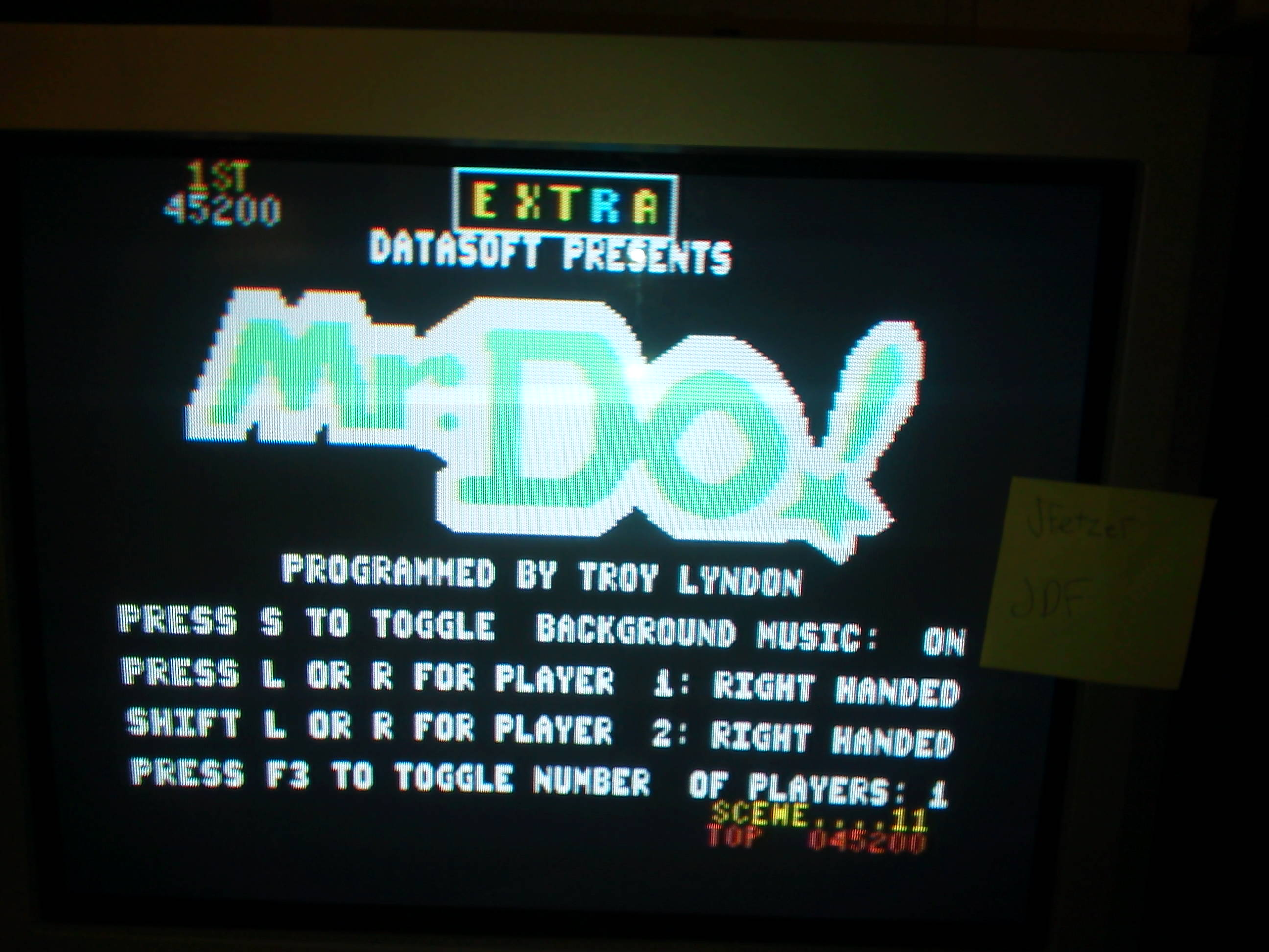 jfetzer: Mr. Do! (Commodore 64) 45,200 points on 2014-05-01 19:33:11
